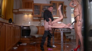 Streaming porn video still #5 from Kinky Threesomes Extreme