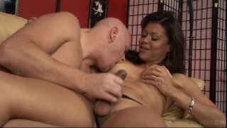 Streaming porn video still #3 from Transsexual Babysitters 2