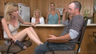 Streaming porn video still #1 from Monsters Of Jizz Vol. 33: Clothed Female Nude Male