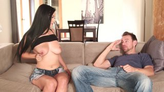 Streaming porn video still #1 from I Love My Sister's Big Tits 4