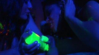 Streaming porn video still #6 from Licking Latina Lesbians