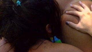 Streaming porn video still #4 from Licking Latina Lesbians