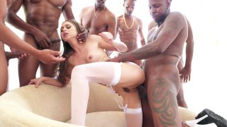 Streaming porn video still #3 from Gangbang Of Riley Reid, The