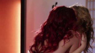 Streaming porn video still #3 from Lesbian Strap-On Bosses