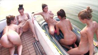Streaming porn video still #6 from House Boat Full Of Teens