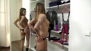 Streaming porn video still #1 from Babysitting Twin Sisters